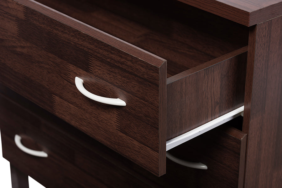 Contemporary 3 Drawer Storage Chest In Brown   The Furniture Space.