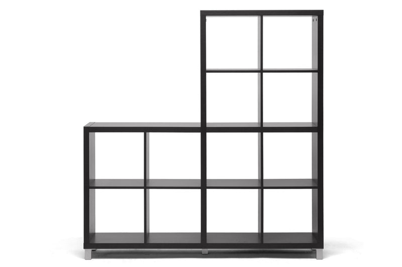 Modern Cube Shelf Unit in Dark Brown
