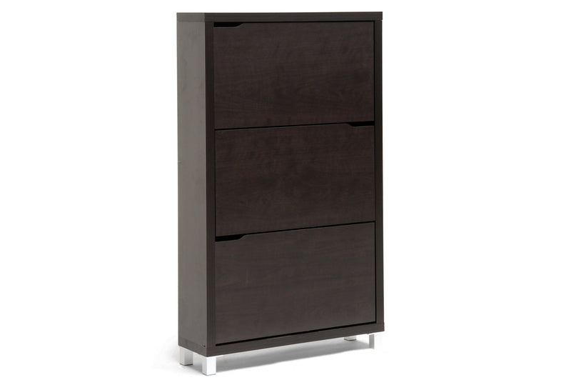 Shoe Cabinet in Dark Brown