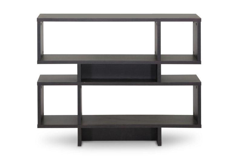 Modern 4 Shelf Bookshelf in Dark Brown