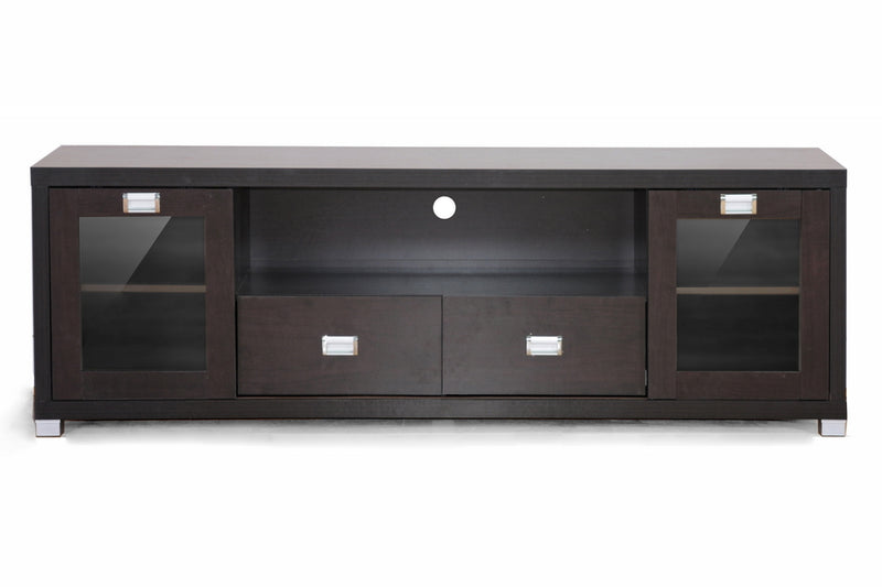 Modern TV Stand in Dark Brown
