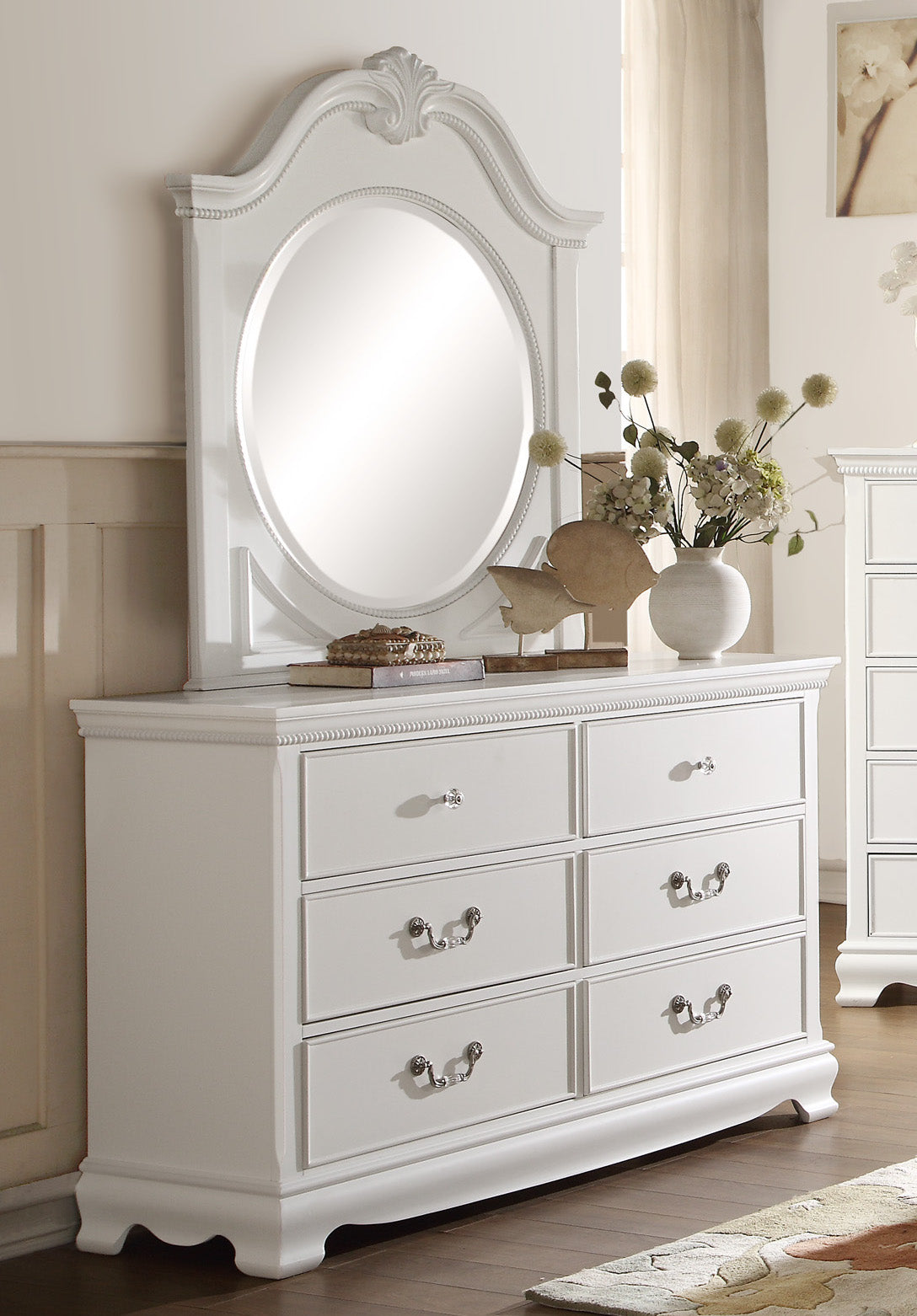 Labrant Girls Cottage Dresser Mirror In White The Furniture Space