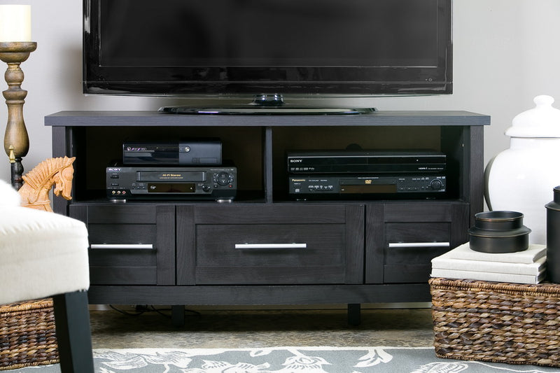 Contemporary TV Stand in Dark Brown