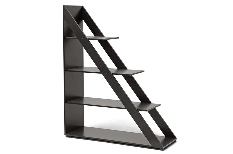 Modern Shelf Unit in Dark Brown