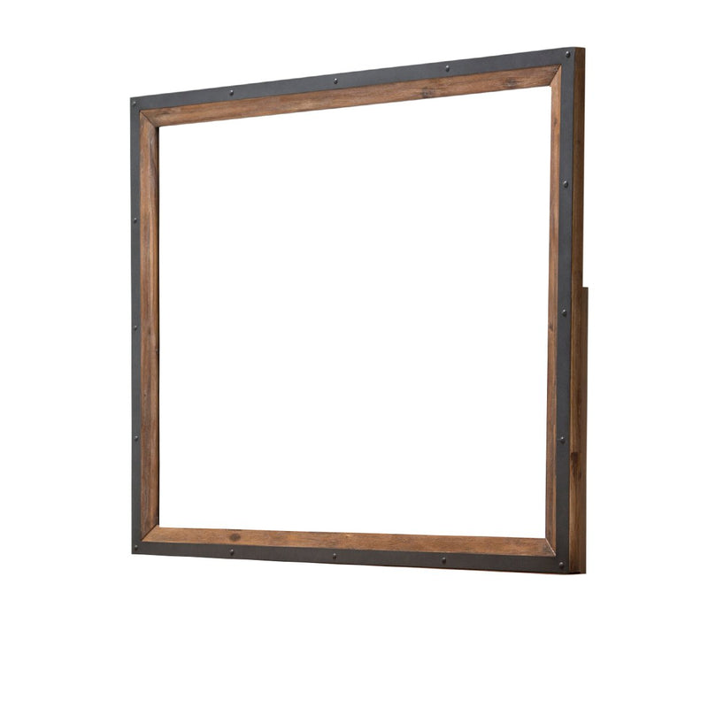 Aico Amini Brooklyn Walk Dresser & Mirror in Burnt Umber
