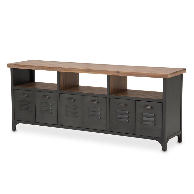 Aico Amini Brooklyn Walk TV Console in Burnt Umber