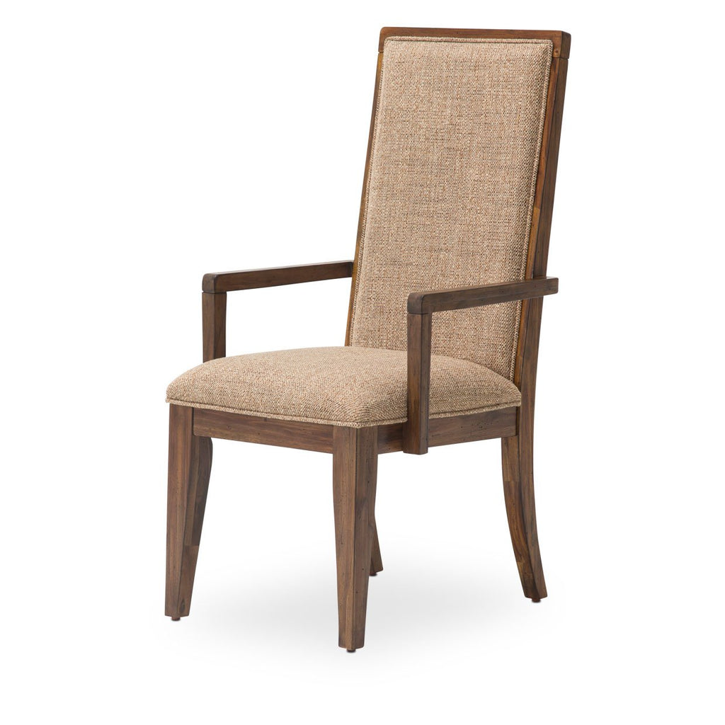 Aico Amini Carrollton 2 Arm Chair in Rustic Rustic Ranch