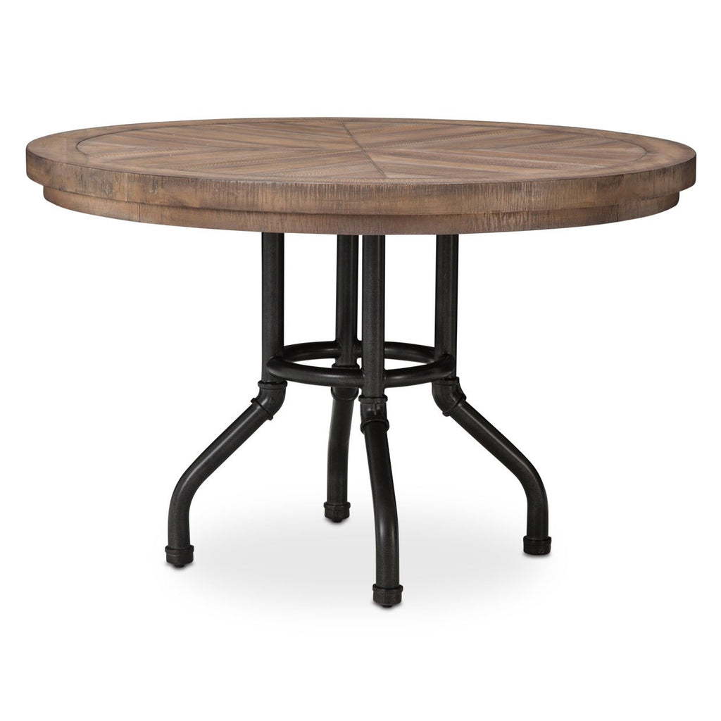 Aico Amini Crossings 4 PC Round Dining Set in Reclaimed Barn