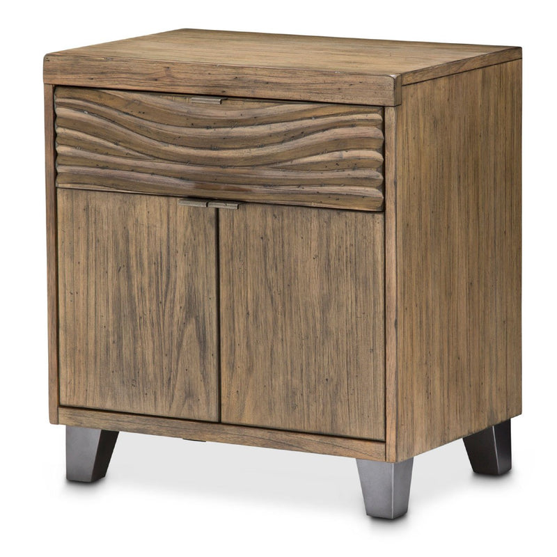 Aico Amini Del Mar Sound 2-Door Nightstand w 1 Drawer in Boardwalk
