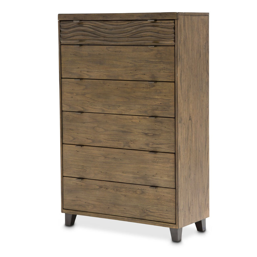 Aico Amini Del Mar Sound 6 Drawer Chest in Boardwalk