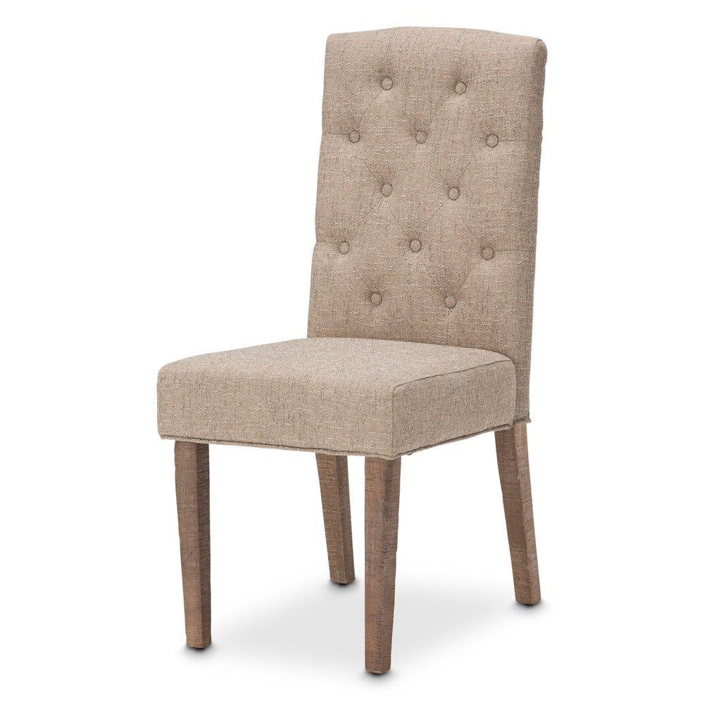 Aico Amini Hudson Ferry 2 Side Chair in Driftwood