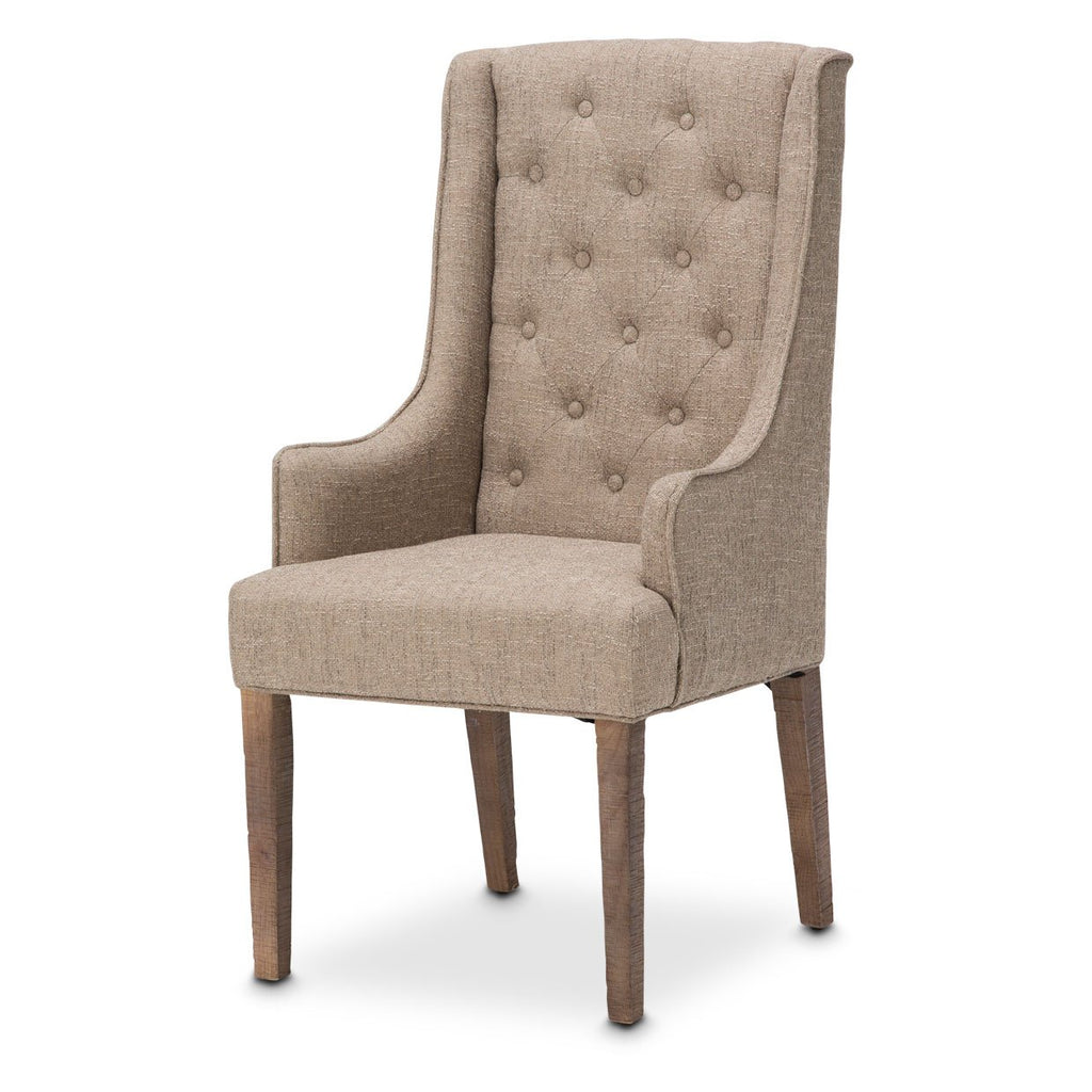 Aico Amini Hudson Ferry 2 Arm Chair in Driftwood