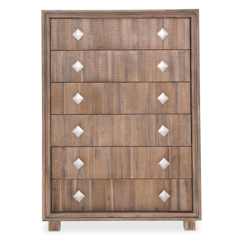 Aico Amini Hudson Ferry 6 Drawer Chest in Driftwood