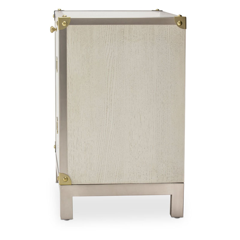 Aico Amini Menlo Station 2 Drawer Nightstand in Eucalyptus
