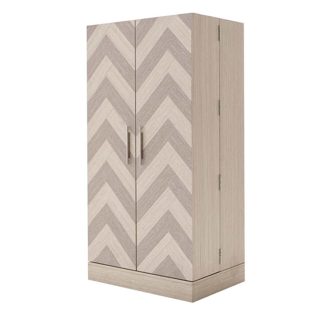 Aico Amini Silverlake Village Footwear Cabinet in Washed Oak