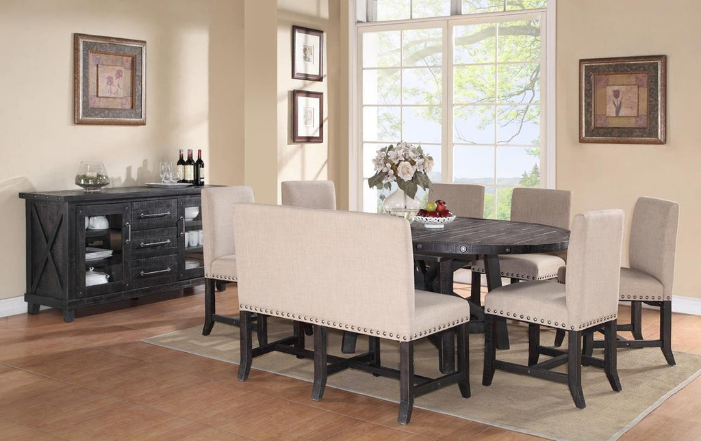 Yorktown 8 Piece Round Set in Cafe by Mfix Furniture