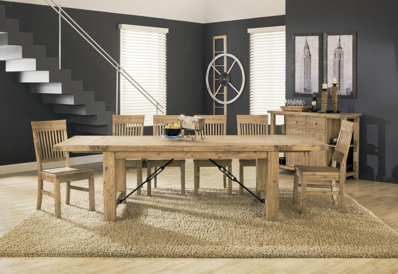Ambrose 9 Piece Dining Set in Cider by Mfix Furniture - The Furniture Space.