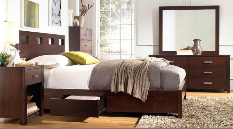 Napier Ranshaw Twin Storage Platform Bed in Espresso by Mfix Furniture