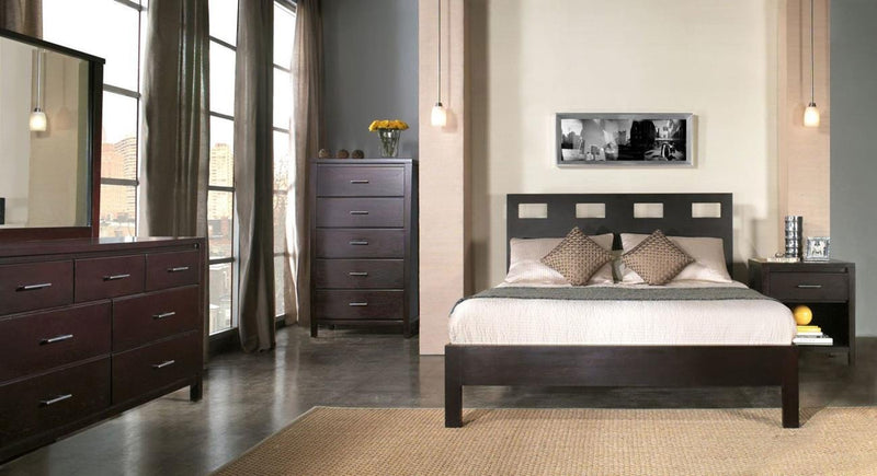 Napier Ranshaw 4 Piece Full Platform Bedroom Set in Espresso by Mfix Furniture