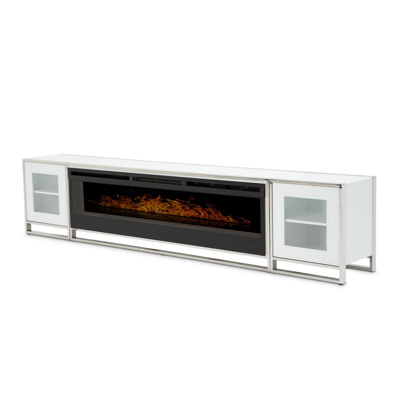 Aico Amini State St Fireplace in Glossy White