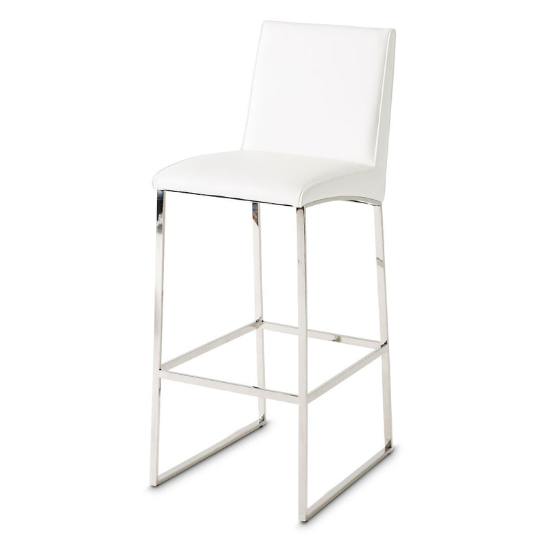Aico Amini State St Set of 2 Barstool in Glossy White
