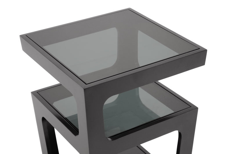 Transitional End Table in Black