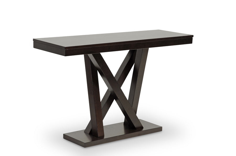 Modern Console Table in Dark Brown
