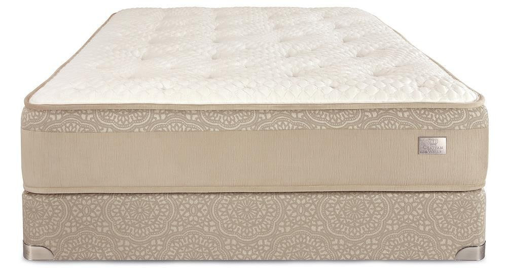 Chattam & Wells Split King Hamilton Luxury Firm Mattress Set - The Furniture Space.