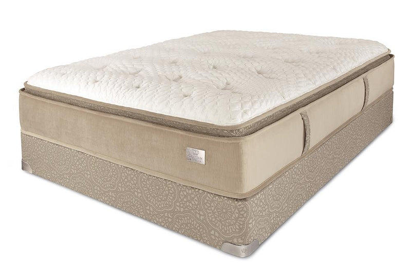 Chattam & Wells Queen Hamilton Pillow Top Mattress Set - The Furniture Space.