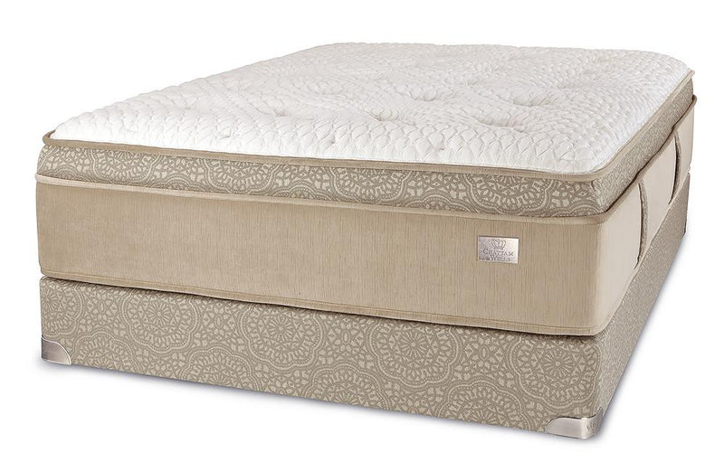 Chattam & Wells Split King Franklin Euro Top Mattress Set - The Furniture Space.