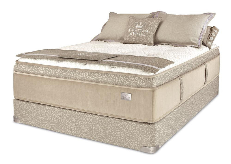 Chattam & Wells Twin X-Long Franklin Euro Top Mattress Set - The Furniture Space.