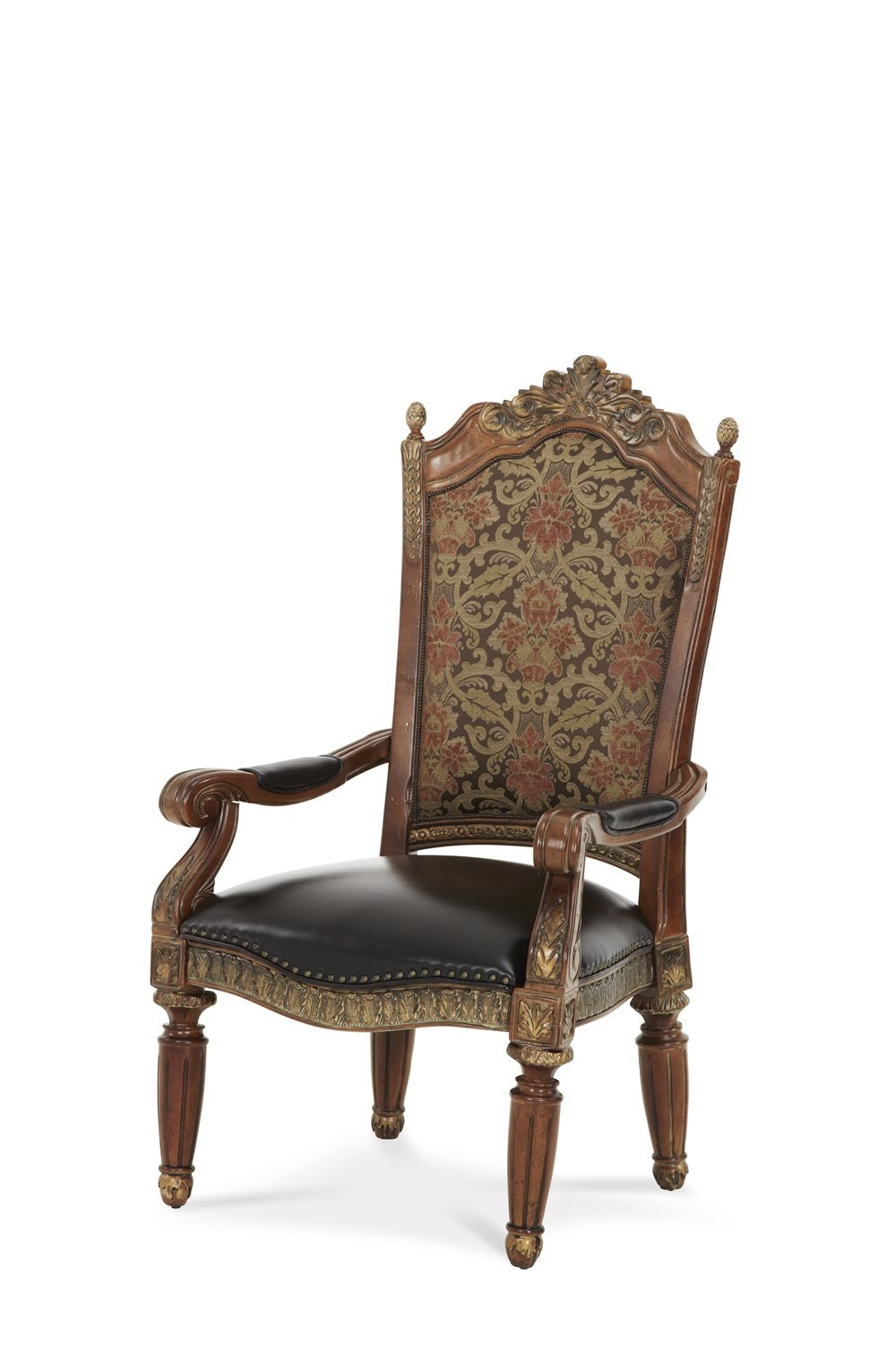 Aico Amini Villa Valencia 2 Arm Chair in Classic Chestnut