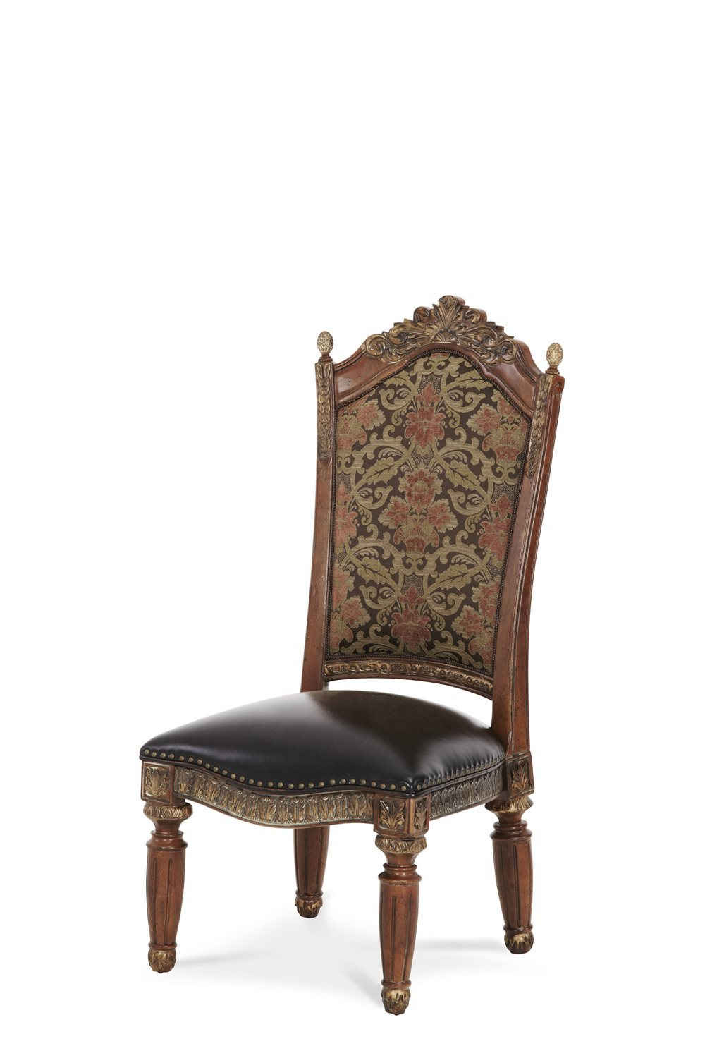 Aico Amini Villa Valencia 2 Side Chair in Classic Chestnut