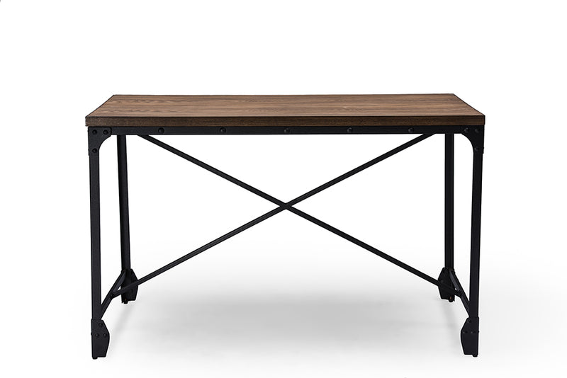 Vintage Industrial Metal Multi Purpose Desk Dining Table in Brown