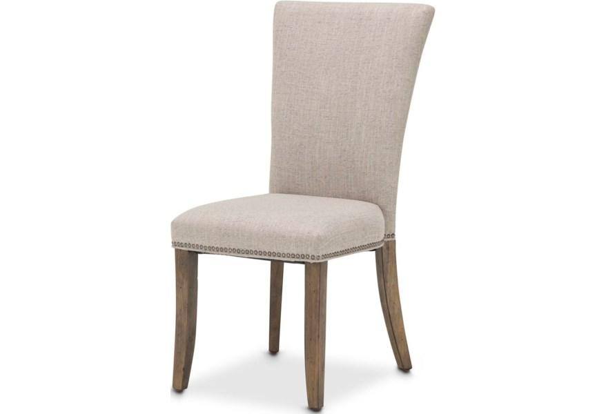 Aico Amini Del Mar Sound 2 Side Chair in Boardwalk