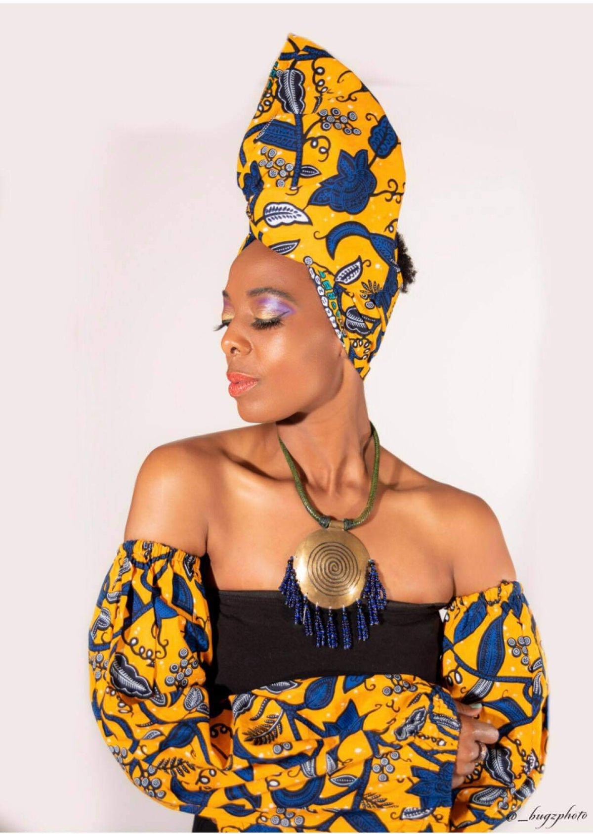 Headwrap with matching Sleeves