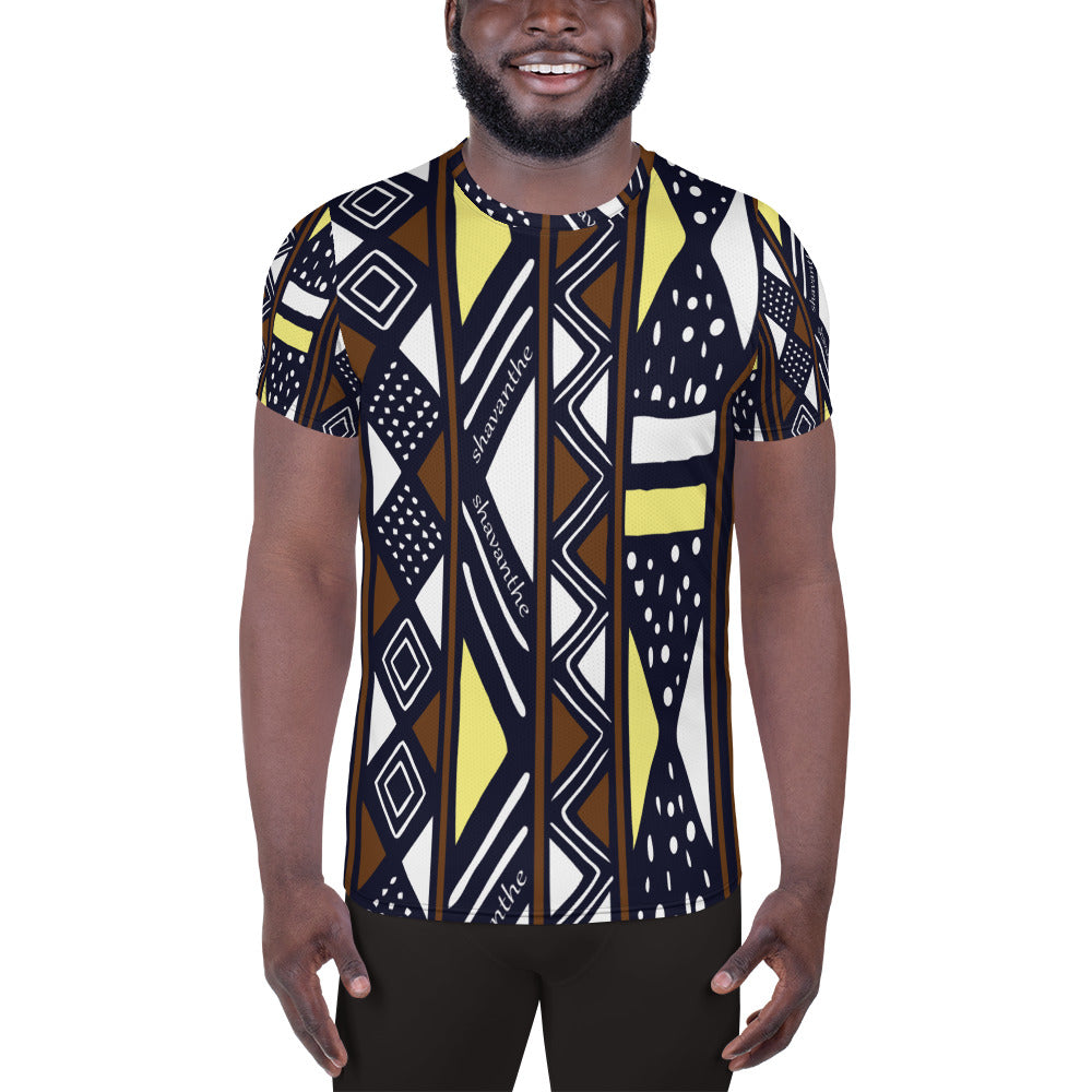 Shavanthe's Custom Print Men's Athletic T-shirt