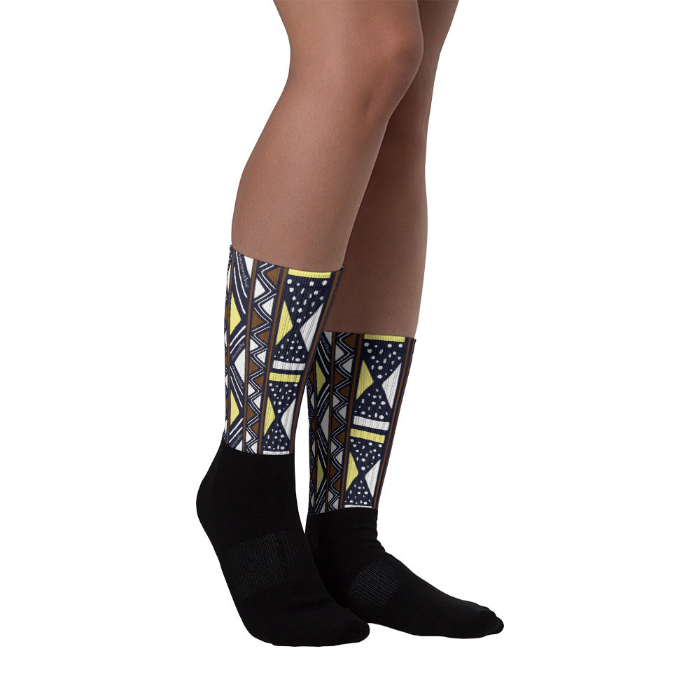 Shavanthe's Black Foot Sublimated Socks M- XL