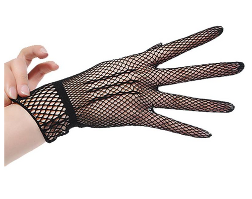 Black mesh lace gloves  so elegant Racing fashion  accessories