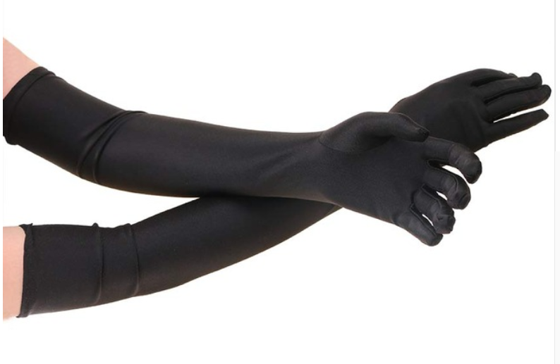 Black long gloves so elegant Racing fashion  accessories Free postage -  gloves ONLY
