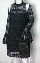 Ministry of Style black lace dress with keyhole flare long sleeves size 10 Designer Fascinators