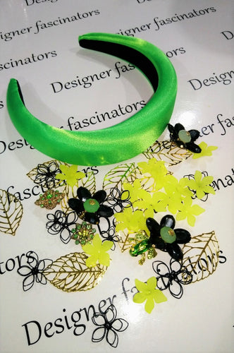 DIY  kit lime green  headband embellishment craft box Designer Fascinators