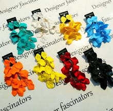 Assorted colours dangle petal earrings Designer Fascinators