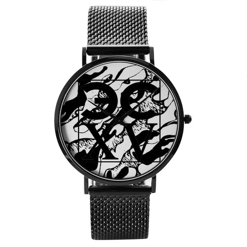 ECXV™ Camouflage 30 Meters Waterproof Quartz Fashion Watch With Casual Stainless Steel Band