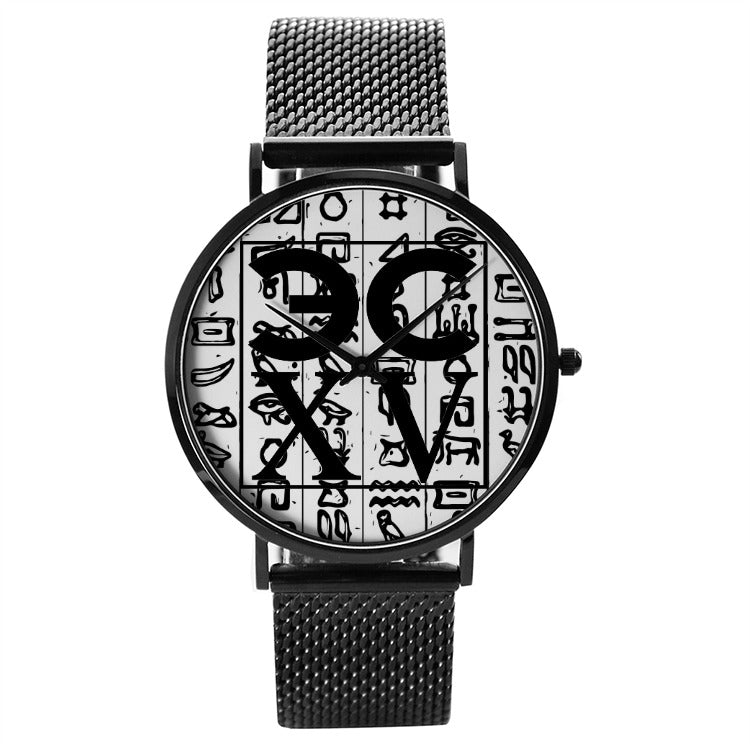 Pharaohs ECXV™ 30 Meters Waterproof Quartz Fashion Watch With Casual Stainless Steel Band