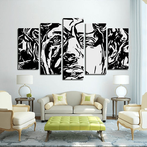 Emperor 5 Panels Canvas Prints Wall Art for Wall Decorations
