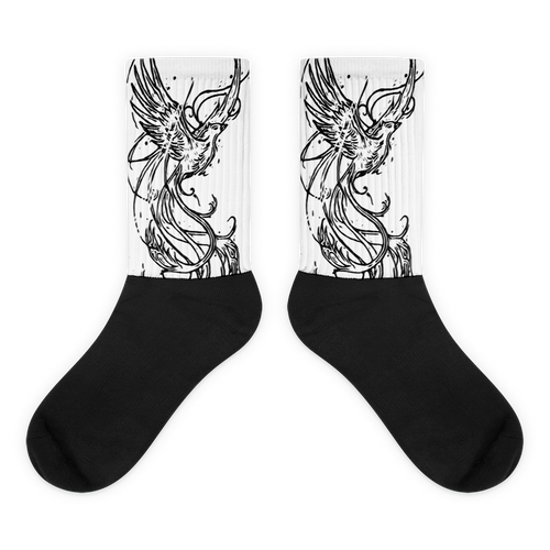 Flying Black Foot Socks - Eccentric Couture XV ™