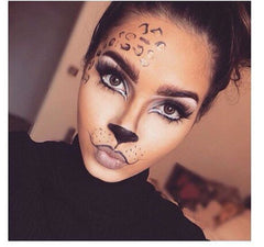 Halloween makeup inspiration do your best cat eye get it and finish it off with some big bold lashes the mouth and nose is pretty self explanatory and can also be achieved with solutioingenieria Images