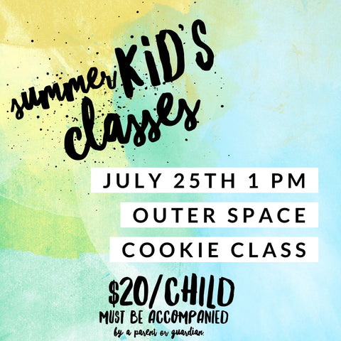 Kid's Cookie Class - Outer Space