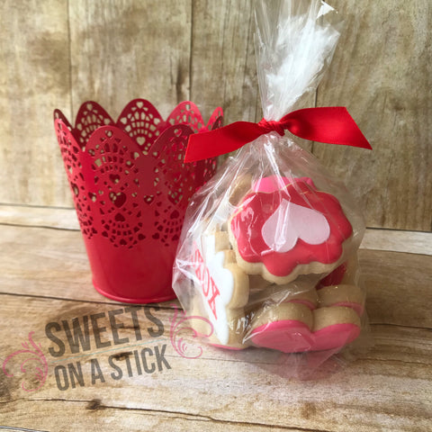 Valentine's Day Mini Cookies - Bucket of Twelve
